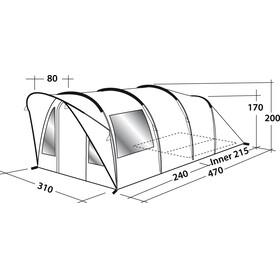 Outwell Lawndale 500 Tent Grau